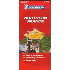 Χάρτης Βόρειας Γαλλίας Michelin road map