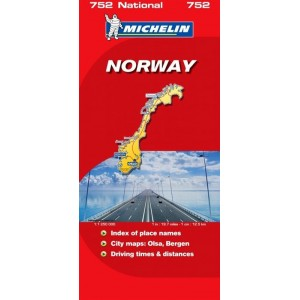 Χάρτης Νορβηγίας Michelin road map
