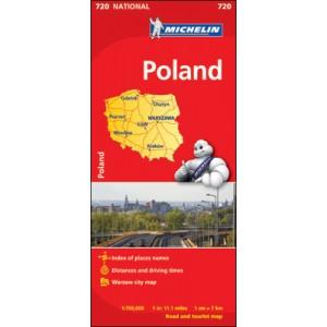 Χάρτης Πολωνίας Michelin road map