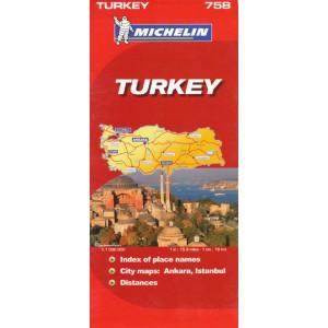 Χάρτης Τουρκίας Michelin road map