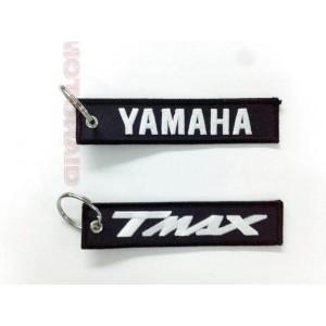 Μπρελόκ με λογότυπο Yamaha T-Max μαύρο - λευκό