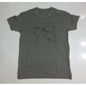 T-shirt MotoRAID WORLD χακί