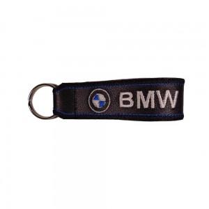 Μπρελόκ δερματίνη με λογότυπο BMW μαύρο - λευκό - μπλε