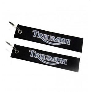 Μπρελόκ με λογότυπο Triumph μαύρο - γκρι - μπλε