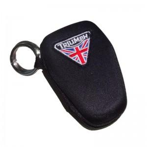 Θήκη κλειδιών σκληρή με κρίκο Triumph logo σημαία