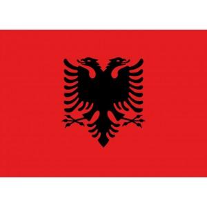 Αυτοκόλλητο σημαία Αλβανίας