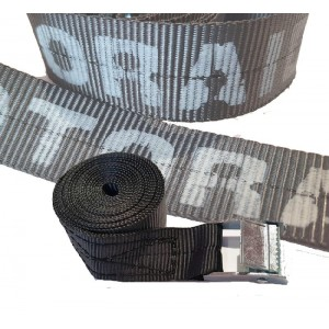 Ιμάντας 2,5μ. x 25 χιλ. μαύρος με λογότυπο