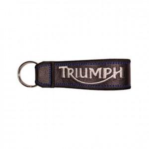 Μπρελόκ δερματίνη με λογότυπο Triumph μαύρο - γκρι - μπλε