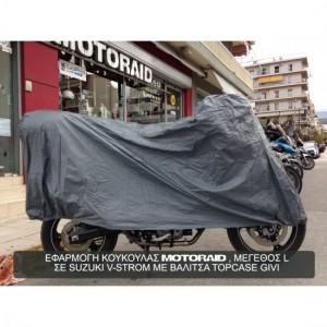 Κουκούλα μοτοσυκλέτας / scooter αδιάβροχη MotoRAID με τρύπα (3η γενιά)