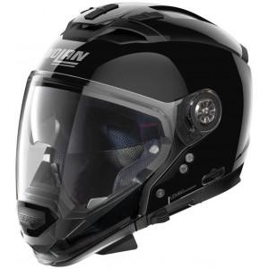 Nolan N70-2 GT Classic N-Com μαύρο γυαλιστερό