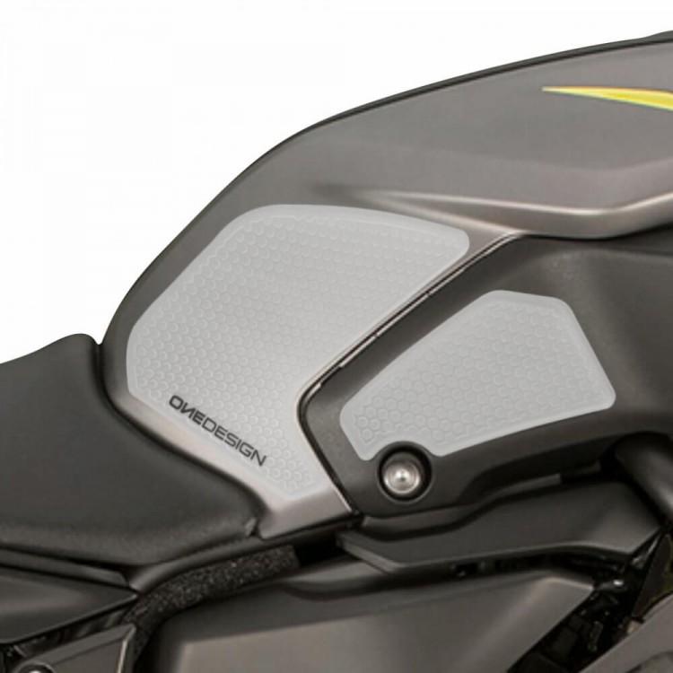 Πλαϊνά προστατευτικά ντεποζίτου έλξης One Design HDR Yamaha MT-07 18- διάφανα