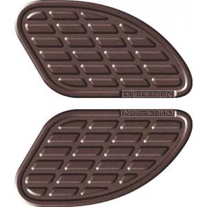 Πλαϊνά προστατευτικά ντεποζίτου έλξης One Design Soft Touch leather look καφέ