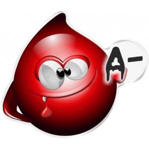 Αυτοκόλλητο Οne Design ομάδα αίματος  Α-