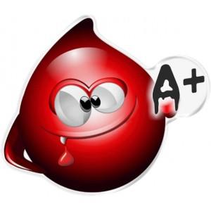 Αυτοκόλλητο Οne Design ομάδα αίματος  Α+