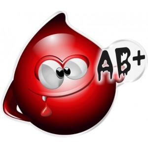 Αυτοκόλλητο Οne Design ομάδα αίματος  AB+