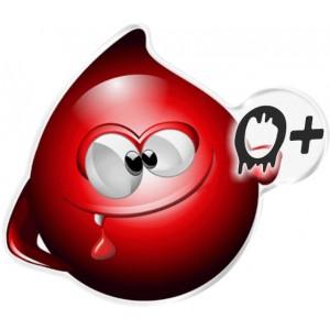 Αυτοκόλλητο Οne Design ομάδα αίματος  0+