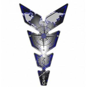 Tankpad Print Moon Slim Compass γκρι-μπλε