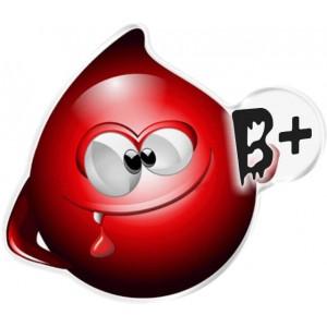 Αυτοκόλλητο Οne Design ομάδα αίματος  B+