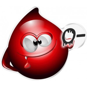 Αυτοκόλλητο Οne Design ομάδα αίματος  0-