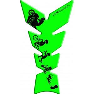 Tankpad One Design Moon Biker Fluo πράσινο