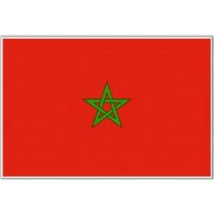 Αυτοκόλλητο σημαία Μαρόκο