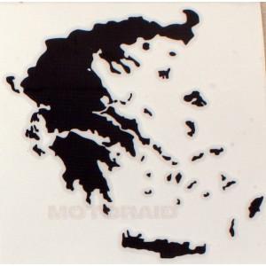 Αυτοκόλλητο ανάγλυφο χάρτης Ελλάδος 12 x 12cm μαύρο