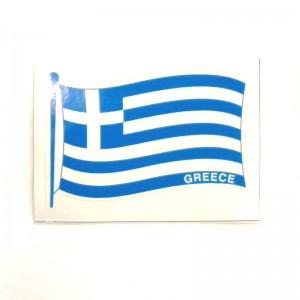 Αυτοκόλλητο Ελληνικής σημαίας κυματιστής 10 x 7 εκ.