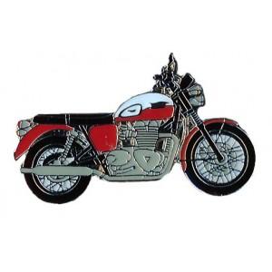 Pin (καρφίτσα) Triumph Bonneville T100 (μπρελόκ) λευκό-κόκκινο