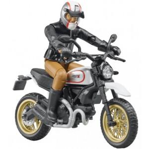 Μινιατούρα 1:12 Ducati scrambler desert sled με οδηγό