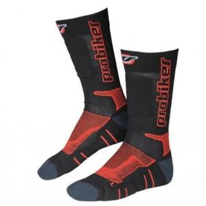 Κάλτσες Probiker μακριές μαύρες - κόκκινες