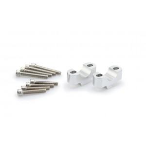 Αποστάτες Puig 20mm για τιμόνια Ø28mm ασημί