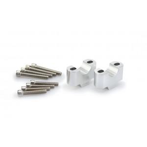 Αποστάτες Puig 30mm για τιμόνια Ø28mm ασημί