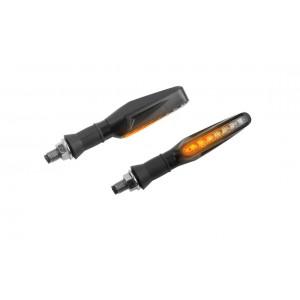 Φλας LED universal Puig Pin ρυθμικά μαύρο-διάφανο (σετ)