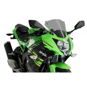 Ζελατίνα Puig Racing Kawasaki Ninja 125 μαύρη