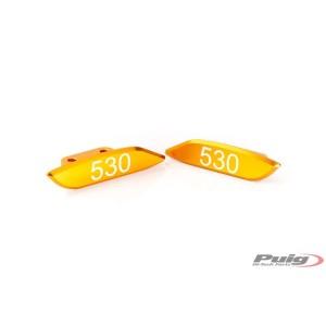 Καπάκια καθρεπτών fairing Puig Yamaha T-MAX 530 χρυσά (σετ)