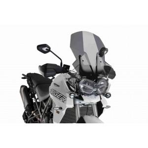 Ζελατίνα Puig Touring ρυθμιζόμενη Triumph Tiger 800/XC/XR 18- σκούρο φιμέ
