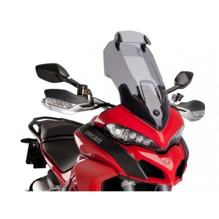 Ζελατίνα Puig Touring με φρυδάκι Ducati Multistrada 1260/S ελαφρώς φιμέ