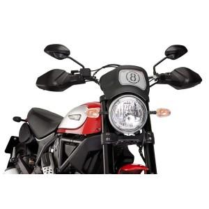 Ζελατίνα - Μάσκα ρετρό Puig Ducati Scrambler μαύρο ματ