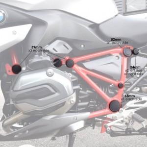 Τάπες υποπλαισίου (σετ) Pyramid BMW R 1200 R LC 15-