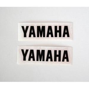 Αυτοκόλλητα QTR Yamaha μαύρα 9 x 2 εκ. (2 τεμ)