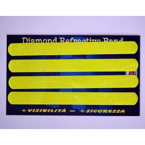 Ανακλαστικά αυτοκόλλητα QTR κυψέλες κίτρινα 24 x 2 εκ. (4 τεμ)