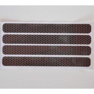 Ανακλαστικά αυτοκόλλητα QTR κυψέλες μαύρα (4 τεμ)