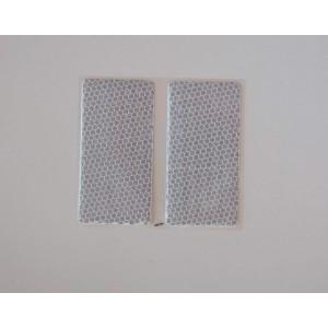 Ανακλαστικά αυτοκόλλητα QTR Diamond ασημί (2 τεμ)