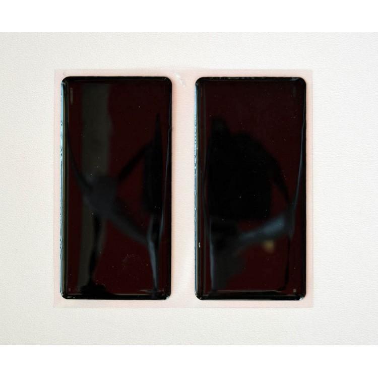 Ανακλαστικά αυτοκόλλητα QTR μαύρα 10 x 5 εκ. (2 τεμ)