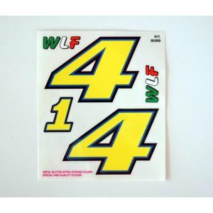 Αυτοκόλλητα σετ Valentino Rossi αριθμοί ''1-4'' 14 x 16 εκ. (5 τεμ)