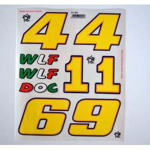 Αυτοκόλλητα σετ Valentino Rossi 20 x 24 εκ. (6 τεμ)