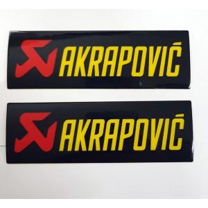 Αυτοκόλλητα QTR Akrapovic 3D 11,5 x 3,5 εκ. (2 τεμ.)