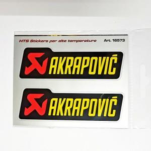 Αυτοκόλλητα QTR Akrapovic για εξατμίσεις(υψηλών θερμοκρασιών) 11 x 3 εκ. (2 τεμ.)