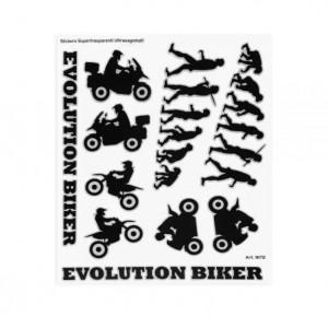 Αυτοκόλλητα QTR ''EVOLUTION'' 20 x 24 εκ. μαύρο (10 τεμ)