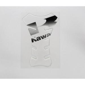 Tankpad Racing Kawasaki διάφανο (μαύρα γράμματα)